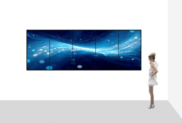 1x5 4K UHD touchscreen videowall