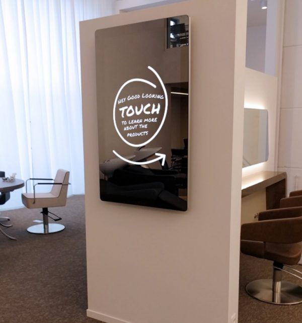 Stylish 50 inch mirror touchscreen
