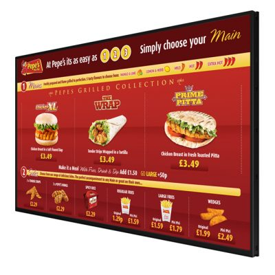 Restaurant Menu Screens