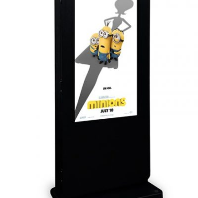 "75"" Outdoor Advertising Totem LifeSize Touch"