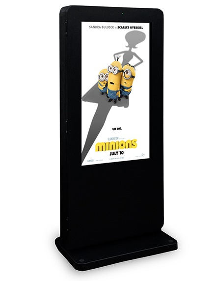 "55"" Outdoor Advertising Totem LifeSize Touch"