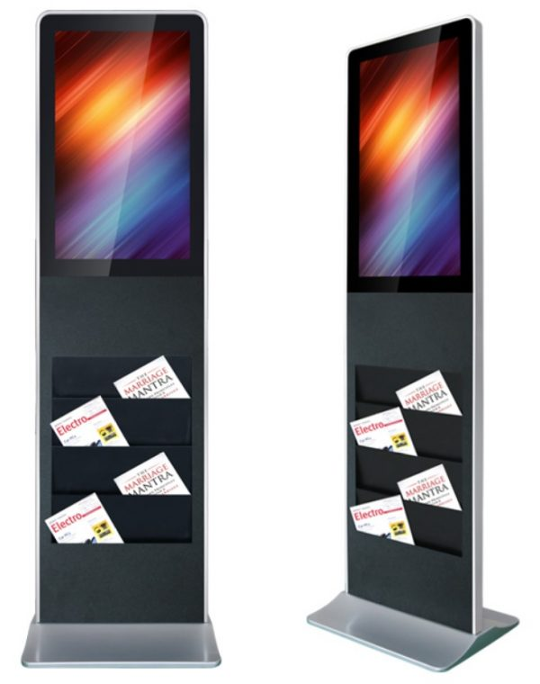 32 Inch Brochure Touchscreen Totem Freestanding