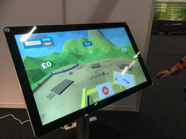 Fifty inch touchscreen hire uk
