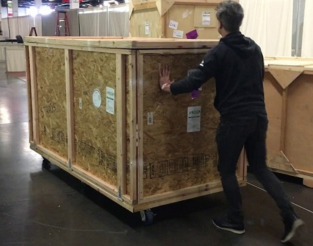 Shipping Crates LifeSize Touch
