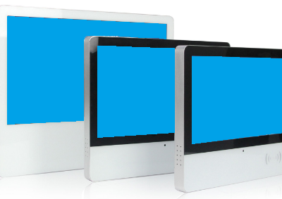Touchscreen kiosk with integrated NFC card reader