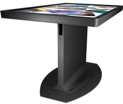 Standing height touchscreen table