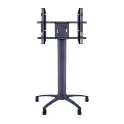 145cm Wheeled Screen Floorstand Black LifeSize Touch