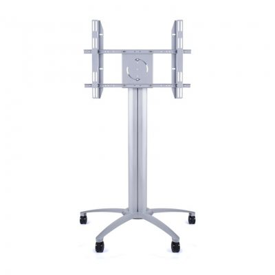 145cm Wheeled Screen Floorstand Silver LifeSize Touch